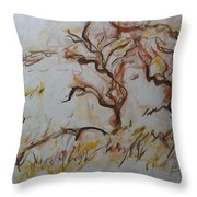 Two Olive Trees Throw Pillow