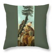 Two Orientals Seated Under A Tree Throw Pillow
