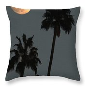 Two Palms And The Moon Throw Pillow