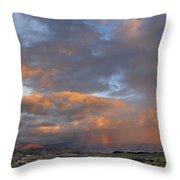 Two Rainbows In Sierra Nevada Throw Pillow
