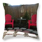 Two Red Chairs Throw Pillow