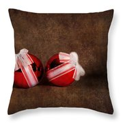 Two Red Ornaments Throw Pillow
