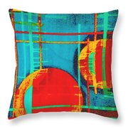 Two Red Suns Throw Pillow