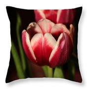 Two Red Tulips Throw Pillow