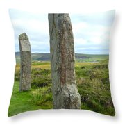 Two Ring Of Brodgar Stones Throw Pillow