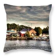 Two Rivers Pierhead Lighthouse  Throw Pillow