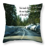 Two Roads Throw Pillow