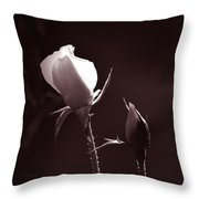 Two Rose Buds Throw Pillow