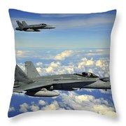 Two Royal Australian Air Force Fa-18 Throw Pillow