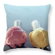 Two Scoops Of Ice Cream Throw Pillow