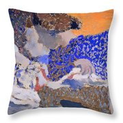 Two Seamstresses In The Workroom Throw Pillow