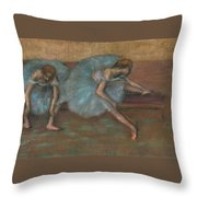 Two Seated Dancers Throw Pillow