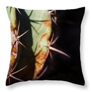 Two Shades Of Cactus Throw Pillow