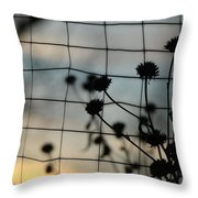 Two Sides Of The Fence Throw Pillow