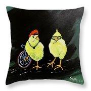 Two Smokin Hot Chicks Throw Pillow