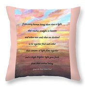 Two Souls Destined To Be Together Throw Pillow