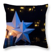 Two Stars In Front Of Dark Background Throw Pillow