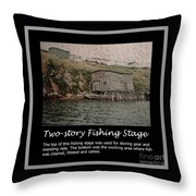 Two-story Fishing Stage Throw Pillow