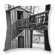 Two-story Privy Throw Pillow