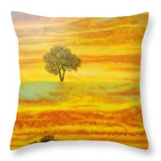 Two Sunsets In Limassol Throw Pillow