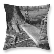 Two Swings B/w Throw Pillow