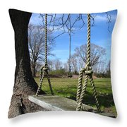 Two Swings Throw Pillow