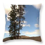 Two Tall Pines Throw Pillow