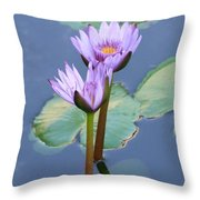 Two Tall Water Lilies Throw Pillow