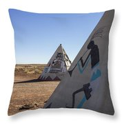 Two Teepees Throw Pillow