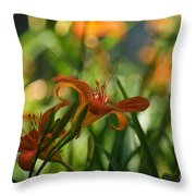 Two Tiger Lillies...   # Throw Pillow