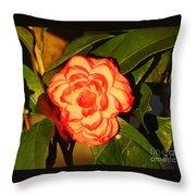 Two-tone Camellia Throw Pillow