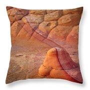 Two Tone Rock Throw Pillow