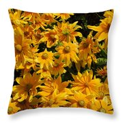 Two Toned Yellow Blooms Throw Pillow