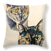 Two Torti's Throw Pillow
