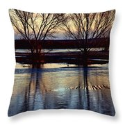 Two Trees In The Bosque Throw Pillow