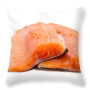 Two Trout Fillets Throw Pillow