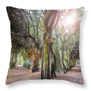 Two Tunnels Taxus Throw Pillow