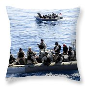 Two Visit, Board, Search And Seizure Throw Pillow