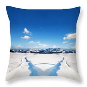 Two Ways Choice In Winter Throw Pillow