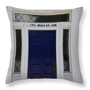 Two Whale Oil Row - Blue Door - New London Throw Pillow