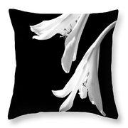 Two White Lilies Throw Pillow