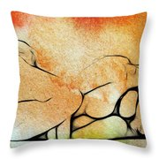 Two Women 2 Throw Pillow