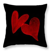 Two Wounded Hearts... Throw Pillow