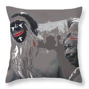 Two Yaqui Pascola Dancers Gallery In The Sun Tucson Arizona 1969-2013 Throw Pillow