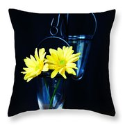 Two Yellow Daisies Throw Pillow