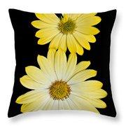Two Yellow Throw Pillow