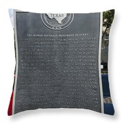 Tx-15026 The Woman Suffrage Movement In Texas Throw Pillow
