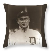 Ty Cobb 1915 Throw Pillow