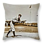 Ty Cobb Painting Throw Pillow