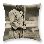 Ty Cobb  Poster Throw Pillow